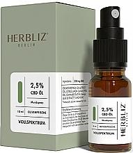 """Profumi e cosmetici Olio-spray per la bocca """"Oliva"""" 2,5% - Herbliz CBD Olive Fresh Oil Mouth Spray 2,5%"""