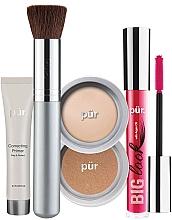 Profumi e cosmetici Set - Pur Minerals Best Sellers Starter Kit Light (primer/10ml+found/4.3g+bronzer/3.4g+mascara/5g+brush)