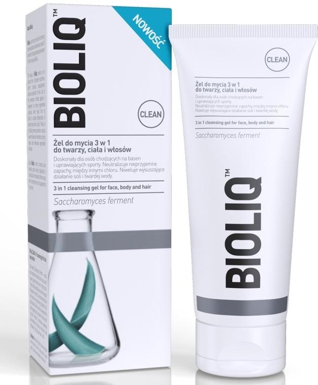Gel detergente 3 in 1 per viso, corpo e capelli - Bioliq Clean Cleansing Gel For Face Body And Hair — foto N1