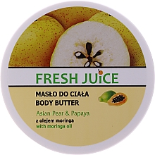 "Profumi e cosmetici Crema- burro corpo ""Pera asiatica e papaya"" - Fresh Juice Asian Pear & Papaya"