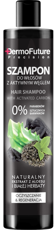 Shampoo con carbone attivo - DermoFuture Hair Shampoo With Activated Carbon