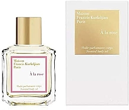 Profumi e cosmetici Maison Francis Kurkdjian A La Rose - Olio profumato corpo