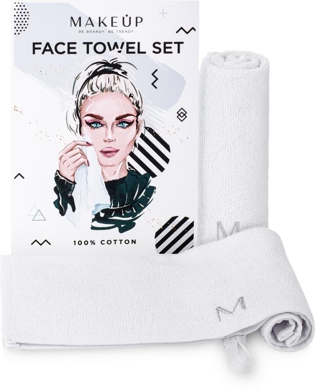 "Set asciugamani da viaggio, bianco ""MakeTravel"" - Makeup Face Towel Set"