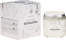 Profumi e cosmetici Dentifricio naturale - Ben & Anna Natural White Toothpaste