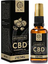 Profumi e cosmetici Olio naturale di macadamia CBD 250mg - Dr. T&J Bio Oil