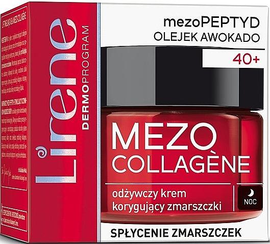 Crema viso antirughe, da notte - Lirene Mezo Collagene