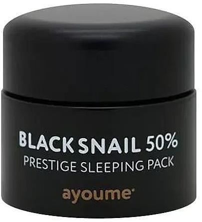 Maschera viso anti-età alla bava di lumaca nera, da notte - Ayoume Black Snail Prestige Sleeping Pack