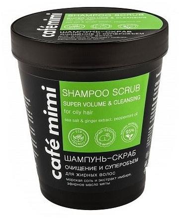 "Shampoo scrub ""Super Volume"" - Cafe Mimi Scrub Shampoo"