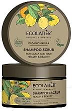 """Profumi e cosmetici Scrub-shampoo per capelli e cuoio capelluto """"Salute e bellezza"""" - Ecolatier Organic Marula Shampoo-Scrub"""