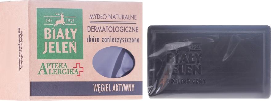Sapone dermatologico al carbone attivo - Bialy Jelen Apteka Alergika Soap