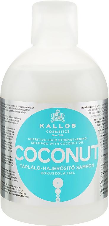 Shampoo nutriente e rassodante con olio di cocco - Kallos Cosmetics Coconut Shampoo