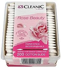 Profumi e cosmetici Batuffolo di cotone con olio di rosa giapponese - Cleanic Rose Beauty Cotton Buds