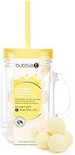 """Profumi e cosmetici Bombe da bagno nel barattolo di """"Tè verde alla citronella"""" - Bubble T Bath Fizzers In Reusable Jar Lemongrass Green Tea"""