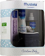 Profumi e cosmetici Set - Mustela Welcome Baby Set Blue (b/gel/200ml + b/cr/50ml + b/oil/100ml + case)