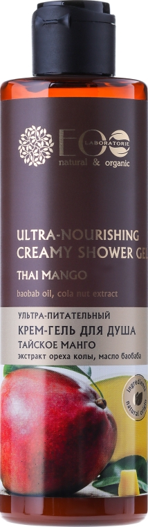 "Crema-gel doccia ultra-nutriente ""Mango tailandese"" - Eco Laboratorie"