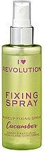 Profumi e cosmetici Spray fissante trucco - I Heart Revolution Fixing Spray Cucumber