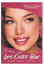 Profumi e cosmetici Set trucco labbra - Pierre Rene Lips Outfit Box No. 02 @Basia_Be (lipstick/3g + lip/pensil/0.4g + lip/gloss/6ml)