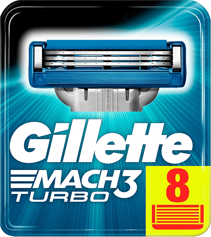 Lamette sostituibili, 8 pezzi - Gillette Mach3 Turbo — foto N3