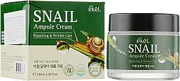 Profumi e cosmetici Crema viso alla bava di lumaca - Ekel Snail Ampule Cream