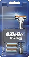 Profumi e cosmetici Rasoio con 6 cassette intercambiabili - Gillette Sensor 3