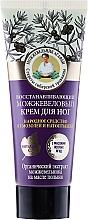 Profumi e cosmetici Crema piedi rigenerante con ginepro - Ricette di nonna Agafya Juniper Repairing Foot Cream