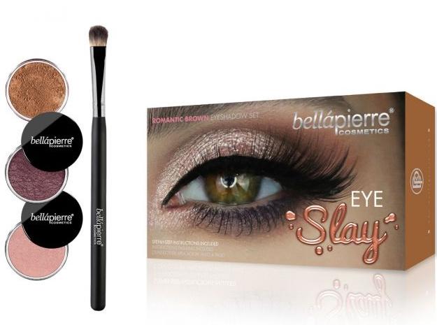 Set per il trucco degli occhi - Bellapierre Eye Slay Kit Romantic Brown — foto N1