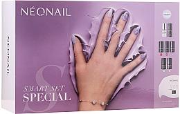 Profumi e cosmetici Set - NeoNail Professional First Step Smart Set (led/lamp + base/7.2ml + top/7.2ml + nail/polish/5x3ml + remover/50ml + nail/file + nail/cleaner/50ml)