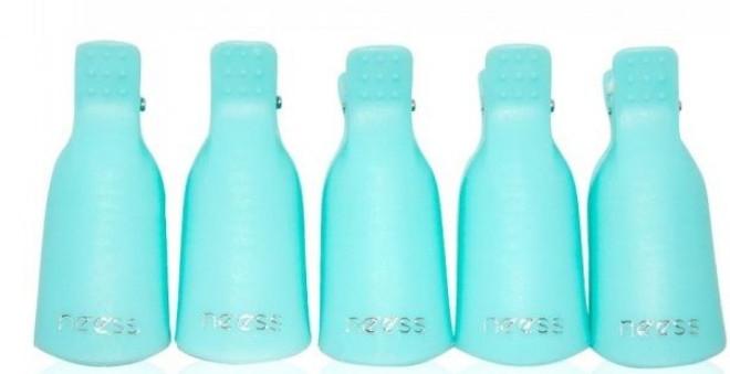 Clip per smalto gel, blu - Neess