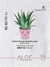 Profumi e cosmetici Maschera in tessuto - Beauty Kei Micro Facialist Boosting Aloe Essence Mask