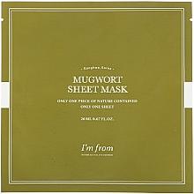 Profumi e cosmetici Maschera viso con assenzio - I'm From Mugwort Sheet Mask