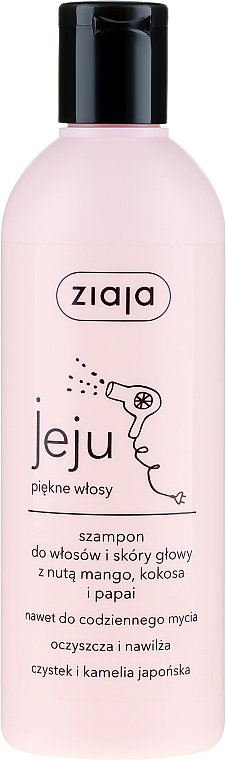Shampoo con mango, cocco e papaia - Ziaja Jeju
