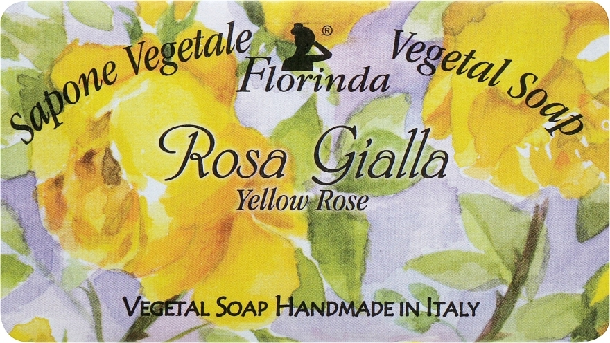 "Sapone naturale ""Rosa gialla"" - Florinda Sapone Vegetal Soap Yellow Rose"