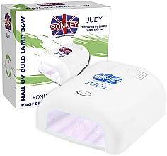 Profumi e cosmetici Lampada UV per unghie, bianca - Ronney Profesional Judy UV 36W (GY-UV-230) Lamp