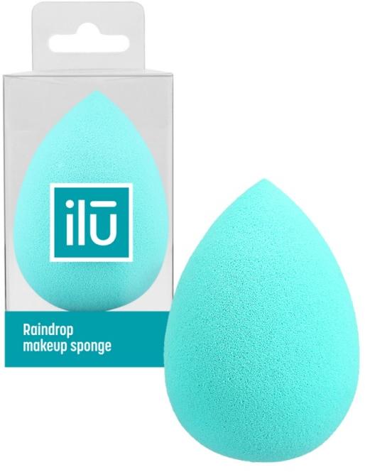 Spugna trucco, goccia, turchese - Ilu Sponge Raindrop Turquoise