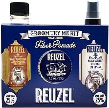 Profumi e cosmetici Set - Reuzel Fiber Try Me Kit (h/pomade/35g + h/spray/100ml + shm/100ml)