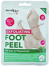 Profumi e cosmetici Maschera piedi esfoliante - Derma V10 Foot Peel Sock Mask Tea Tree & Peppermint