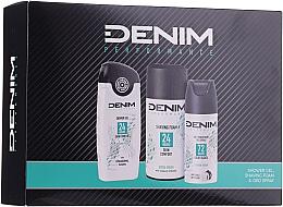 Profumi e cosmetici Set - Denim Extrem Fresh Set (deo/150ml + sh/gel/250ml + shav/foam/200ml)