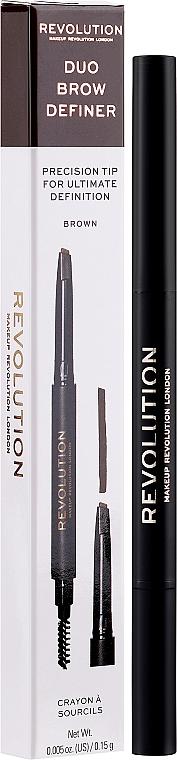 Matita per sopracciglia - Makeup Revolution Duo Brow Pencil