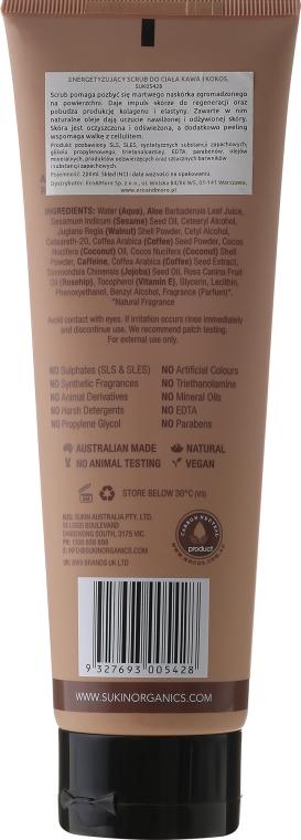 """Scrub corpo """"Caffè e cocco"""" - Sukin Energising Body Scrub With Coffee & Coconut — foto N2"""
