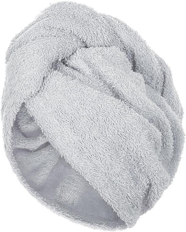 Asciugamano turbante, griggio - MakeUp
