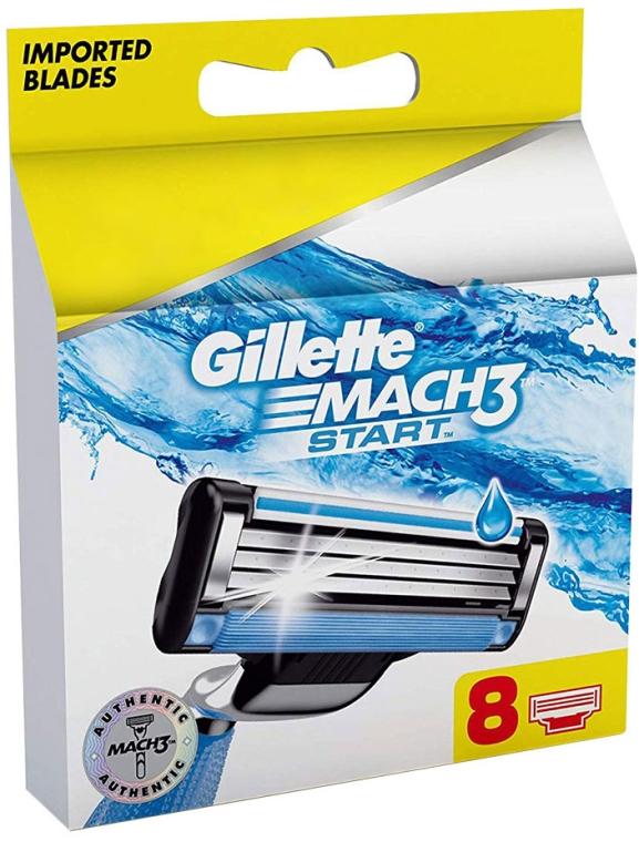 Lamette di ricambio, 8 pz - Gillette Mach3 Start