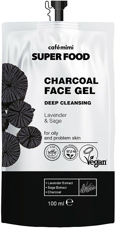 "Gel detergente al carbone ""Lavanda e salvia"" - Cafe Mimi Super Food"