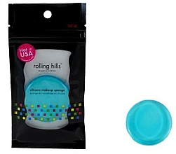 Profumi e cosmetici Spugnetta trucco in silicone, blu - Rolling Hills Silicone Makeup Sponge Blue