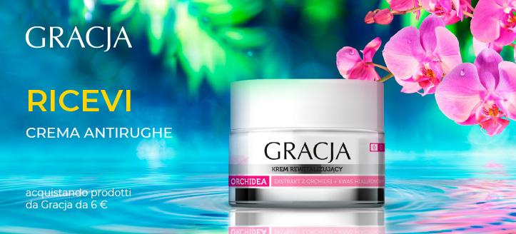 Acquistando prodotti Gracja da 6 €, ricevi in regalo una crema antirughe