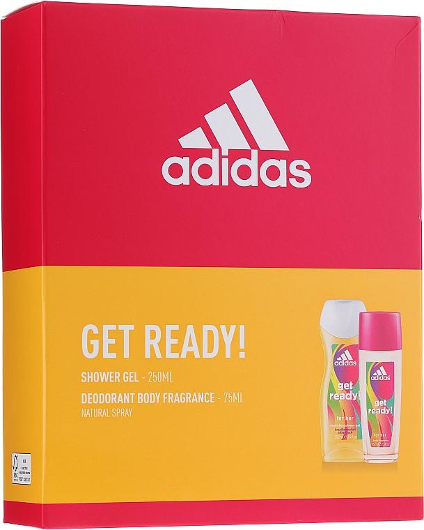Adidas Get Ready! For Her - Set (deo/sp/75ml +sh/gel/250ml)