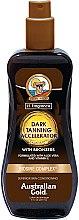 Profumi e cosmetici Spray-gel acceleratore dell'abbronzatura - Australian Gold Dark Tanning Accelerator Spray Gel With Bronzers
