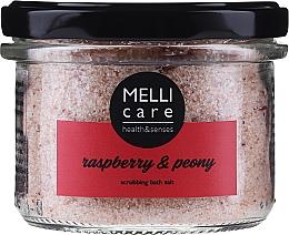 Profumi e cosmetici Sale da bagno esfoliante naturale - Melli Care Raspberry & Peony Scrubbing Bath Salt