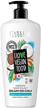 """Profumi e cosmetici Balsamo corpo """"Cocco e mandorle"""" - Eveline I Love Vegan Food Body Balm"""
