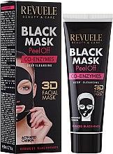 "Profumi e cosmetici Maschera nera ""Coenzima Q10"" - Revuele Black Mask Peel Off Co-Enzymes"