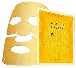 Profumi e cosmetici Maschera viso con particelle d'oro - Holika Holika Prime Youth Gold Caviar Gold Foil Mask